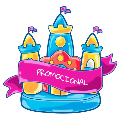 Imagem de um castelo com uma faixa escrito: Promocional